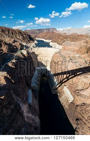 Hoover Dam and Lake Mead near Las Vegas