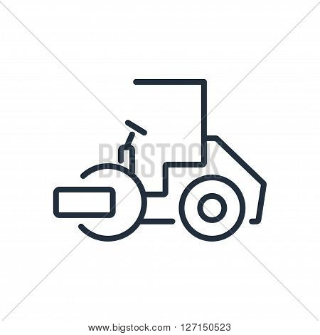 Asphalt paver icon. Vector illustration. Vector symbols.