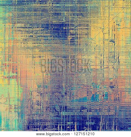 Abstract grunge weathered background of vintage texture. With different color patterns: yellow (beige); green; blue; red (orange); gray; cyan