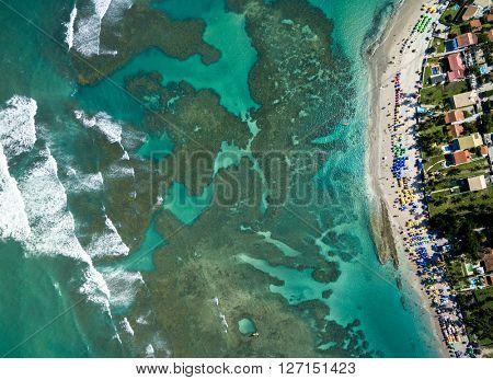 TopView of Porto de Galinhas, Pernambuco, Brazil