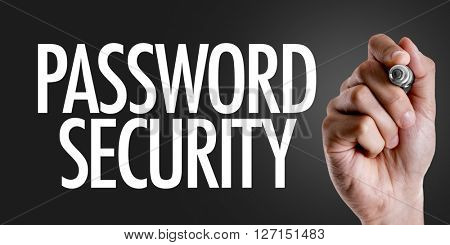 Hand writing the text: Password Security
