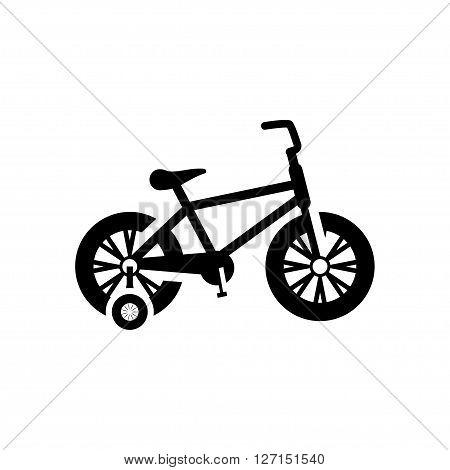 Children's bicycle icon. Vector illustration. Vector symbols.
