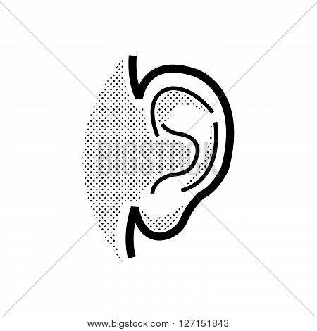 Medical Doctors Otolaryngology ear icon, vector design eps10.