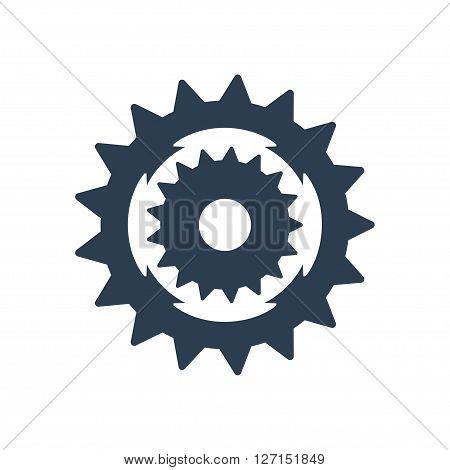 Sprocket bike icon. Vector illustration. Vector symbols.