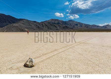 View of Racetrack in the Death Valley National Park