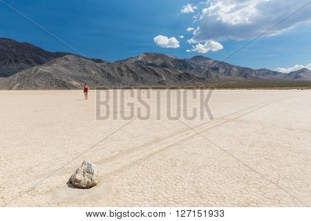 View of the Racetrack in the Death Valley National Park