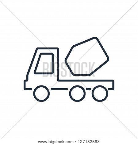 Concrete mixer icon. Vector illustration. Vector symbols.
