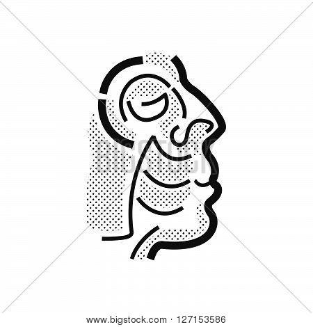 Facial muscles Medical Doctors Otolaryngology icon, vector design eps10.
