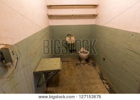 San Francisco, California - September 17: Interior Views Of The Alcatraz Island In San Francisco On