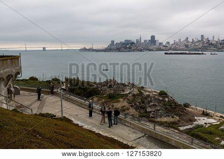San Francisco, California - September 17: Exterior Views Of The Alcatraz Island In San Francisco On