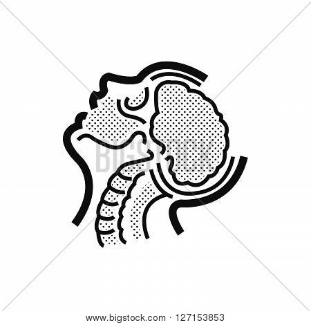 brain anatomy Medical Doctors Otolaryngology icon, vector design eps10.