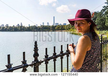 Girl In Central Park, Jacqueline Kennedy Onassis Reservoir, New York