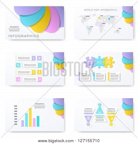 Vector infographic template for modern creative presentation slides