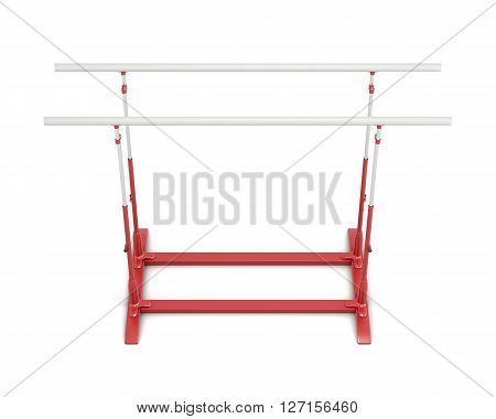 Parallel bars for gymnastics isolated on white background. 3d rendering.