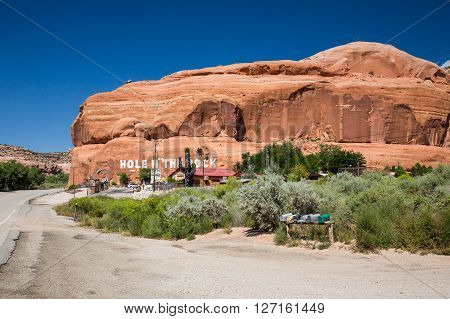 Hole N The Rock Near Moab, Utah