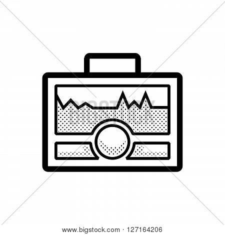Medical Device Icon, Health Care Portable Machine