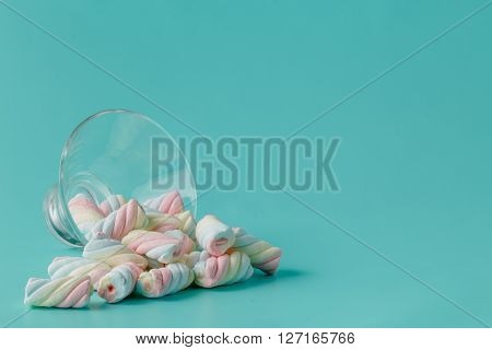 Heap Of Twisted American Marshmallow