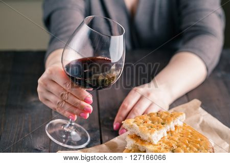 Hand And Wineglass