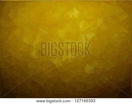 Abstract background yellow lemon vector with low poly texture