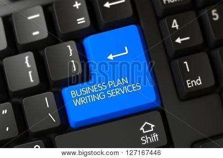 Computer Keyboard with Hot Keypad for Business Plan Writing Services. Keypad Business Plan Writing Services on PC Keyboard. Business Plan Writing Services Keypad on Computer Keyboard. 3D.