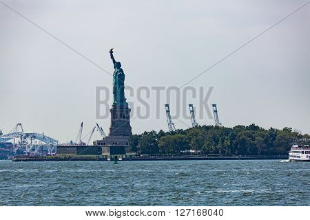 Statue Liberty, New York In August 2015