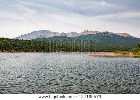 View to Pikes Peak Mountain Colorado 2015