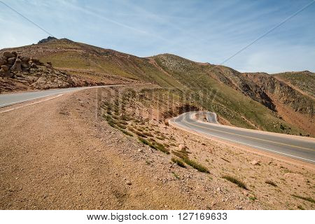 View of Pikes Peak Mountain in Colorado 2015