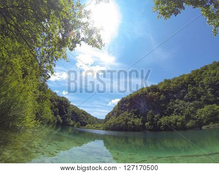 Beautiful nature from Plitvice lake in Croatia
