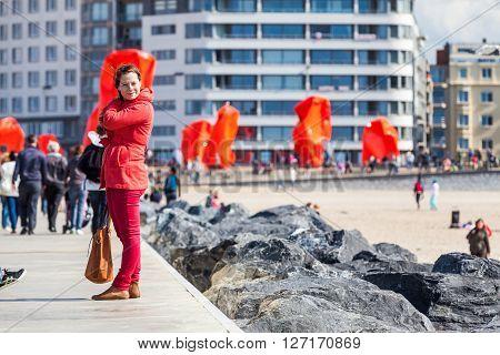 Model Jana In Oostende, Belgium
