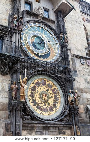 Astronimical Clock In Prague, Czech Republic