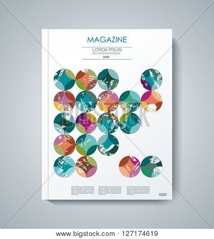 Vector Design Of Magazine Cover Annual Report, Flyer Poster.
