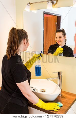 Member Of Housekeeping Staff  Working