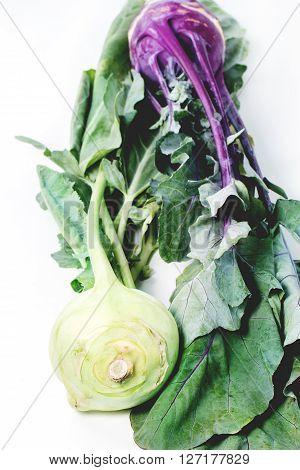 Green And Purple Kohlrabi