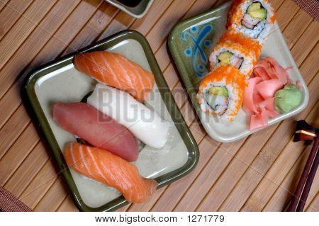Elegant Sushi Meal
