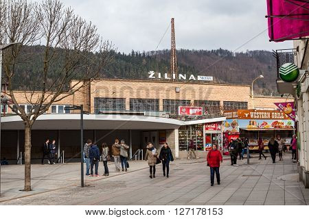 Main Train Station In The City Centre Of Zilina