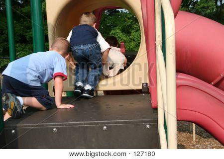 Kids Taking Turns