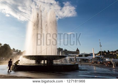 View Of The City Of Lucerne In Switzerland