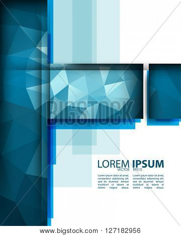 eps10 vector polygon elements corporate concept design