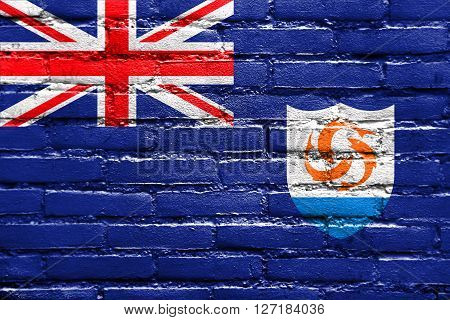 Flag Of Anguilla, Painted On Brick Wall