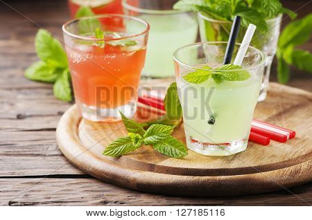 Mix Of Cocktails With Rum And Mint