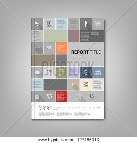 Brochures book or flyer with info graphic template vector eps 10