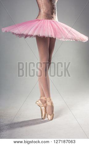 Ballet Dancer Standing On Pointes