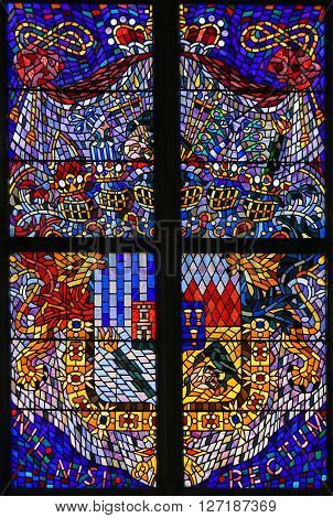 Stained Glass - Coat Of Arms In Prague Cathedral