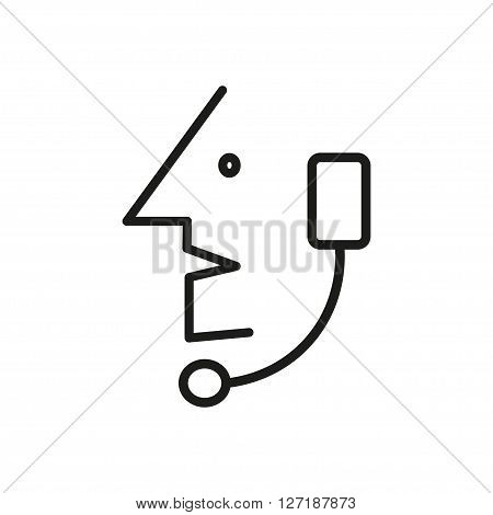Operator in headset, Call Center Operator - Vector icon isolated
