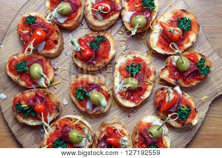 pintxos tapas spanish canapes party finger food