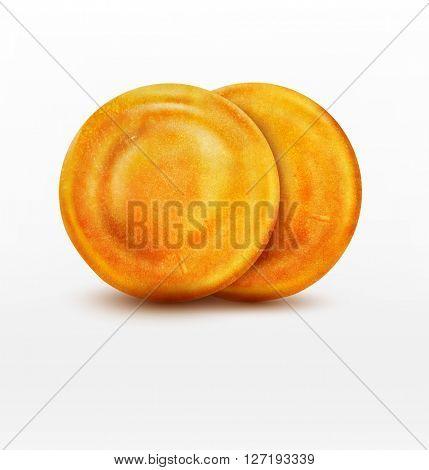 two  pancake isolated on white background(JPEG Version)