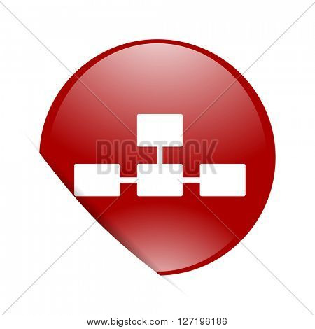 database red circle glossy web icon