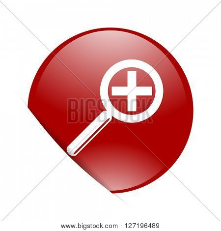 lens red circle glossy web icon