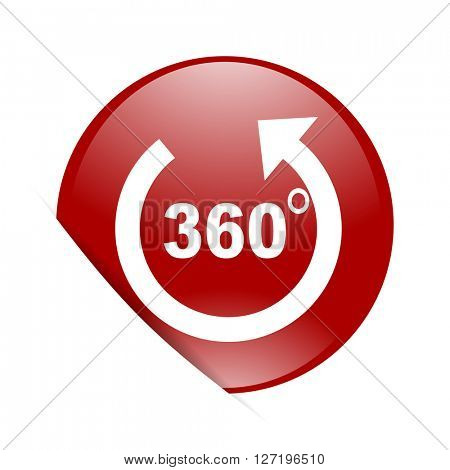 panorama red circle glossy web icon