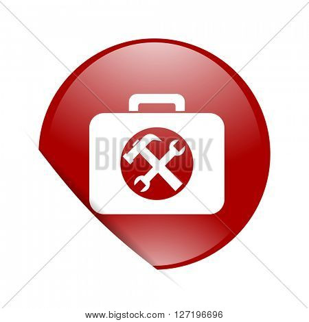 toolkit red circle glossy web icon